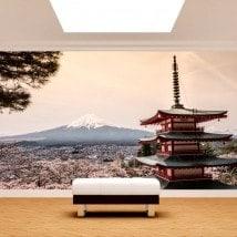 Fotomural Pagoda Monte Fuji