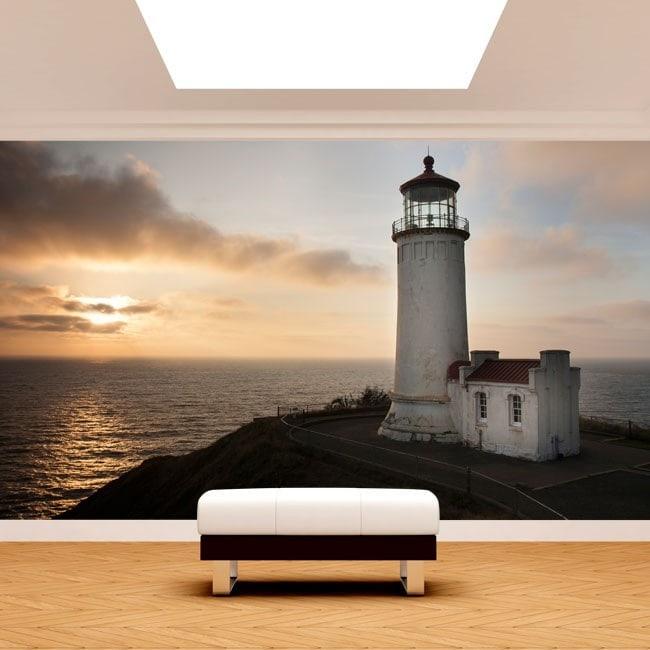 Fotomural Lighthouse coast Washington
