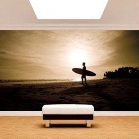 Fotomural surfer on the beach