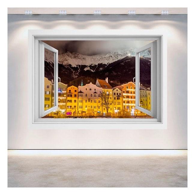 Windows 3D night Innsbruck Austria