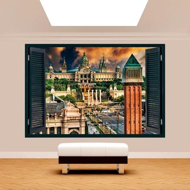 Windows 3D Spain Barcelona Plaza
