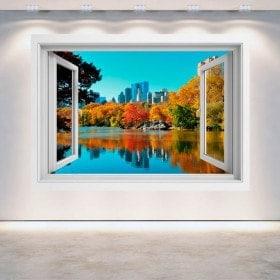 Window 3D Central Park New York