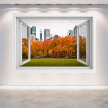 Windows 3D walls Central Park New York