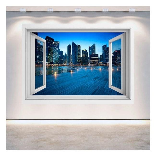 Windows 3D Singapore city