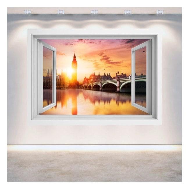 Windows 3D Big Ben London sunset