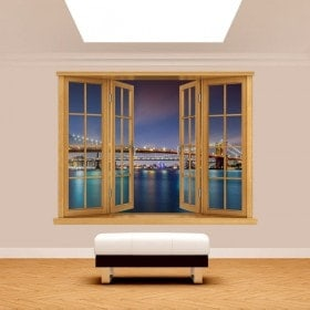Windows 3D bridge from Brooklyn New York