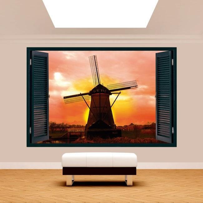 Windows 3D mill Holland