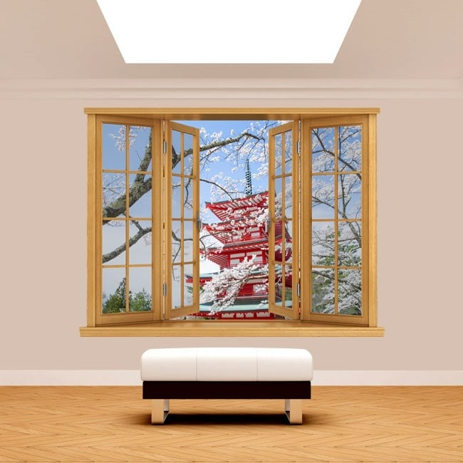 Windows 3D Pagoda Japan
