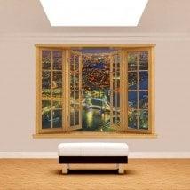 Windows 3D night London