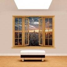 Windows 3D Manhattan sunset