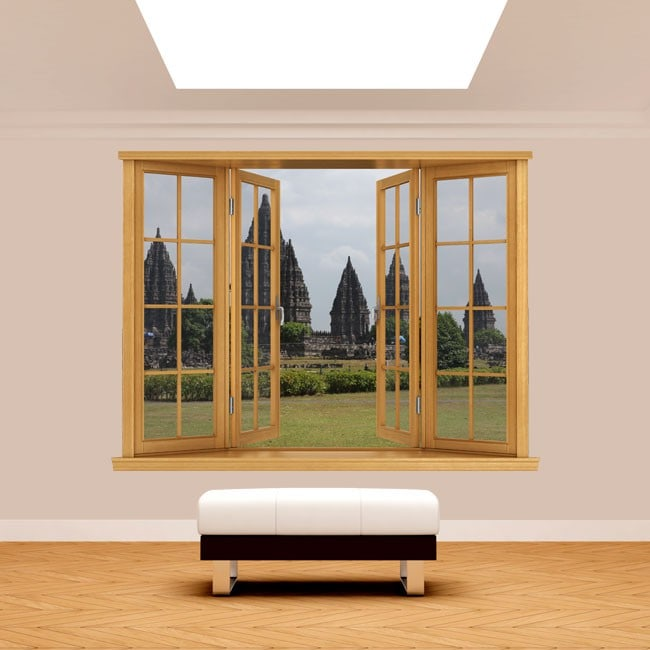 Windows 3D Yogyakarta Indonesia Java island