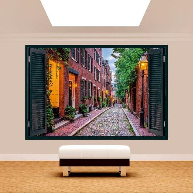 Windows 3D Boston streets