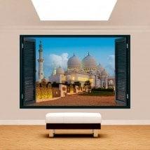 Windows 3D vinyl mosque Sheikh Zayed