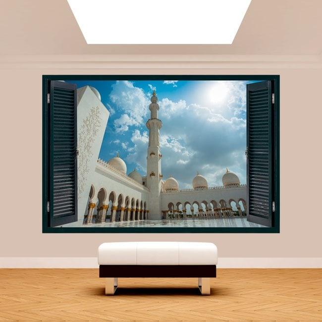 Windows 3D mosque Sheikh Zayed