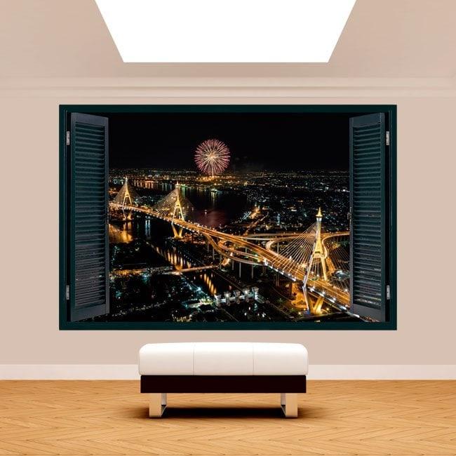 Windows 3D cities Bangkok