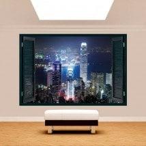 Hong Kong City 3D window