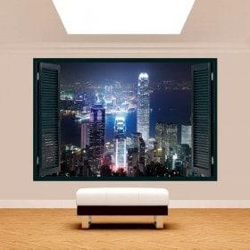 Window 3D Hong Kong City