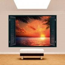 Windows 3D Sun Sunset Beach