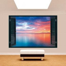 3D window sunset Sunshine Coast
