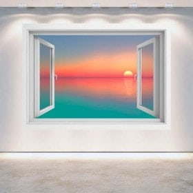Windows 3D sunset colors