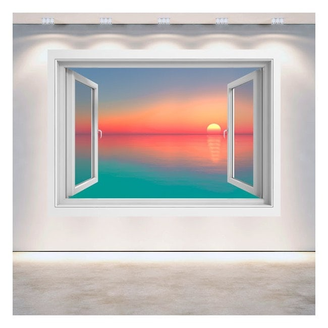 Windows 3D sunset colors
