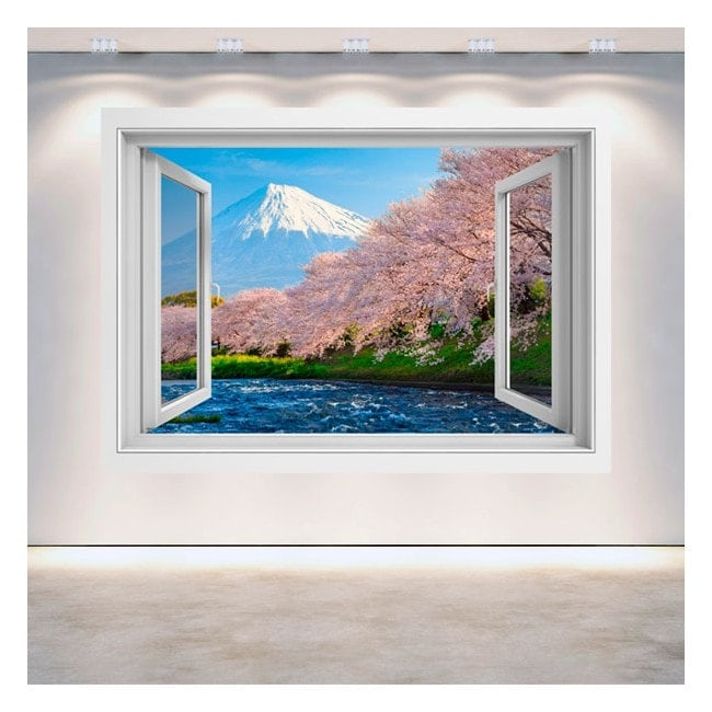 Windows 3D Mt. Fuji cherry trees blossom