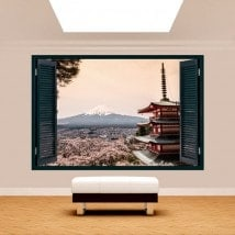3D Pagoda window Mount Fuji