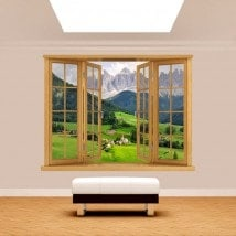 Windows 3D mountains Funes Italy