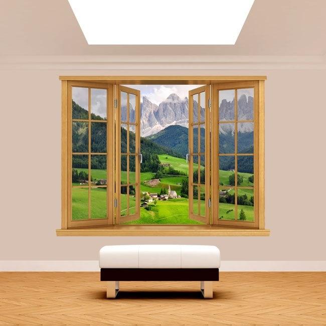 Windows 3D mountains Funes Italy