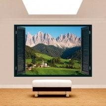 Windows 3D Dolomites Italy mountains