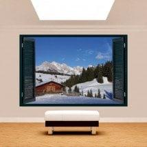 Windows 3D Alps Siusi Italy mountains