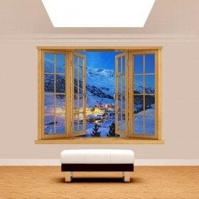 Windows 3D mountains Alps Austria