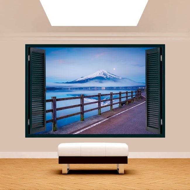 Windows 3D road Mount Fuji