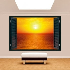 Windows 3D Sun sunset on the sea