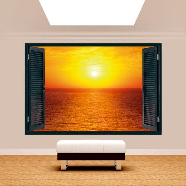 Windows 3D Sun sunset on the sea