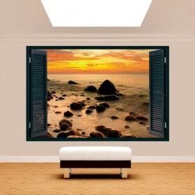 Sunset on the Baltic Sea 3D window