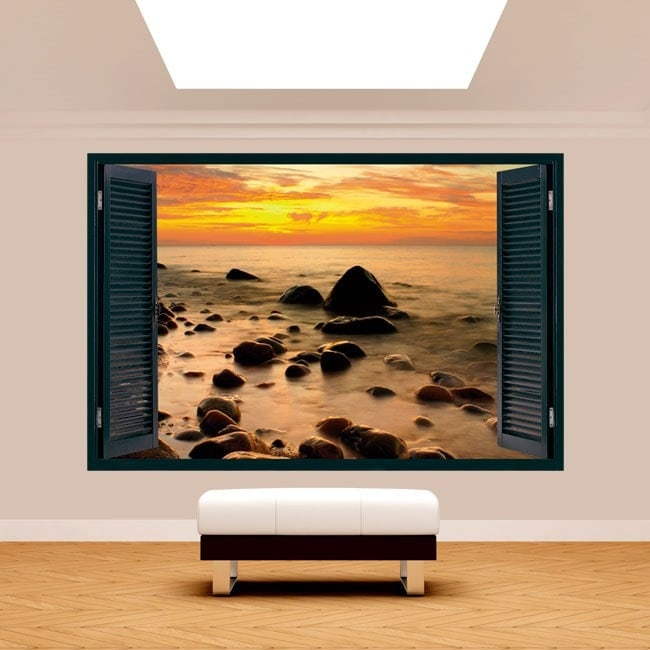 Sunset on the Baltic Sea 3D window