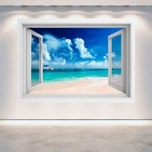 3D Beach window