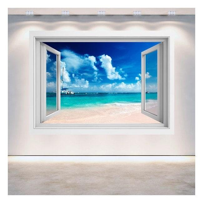 3D Beach window