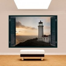 3dwindow Lighthouse coast Washington