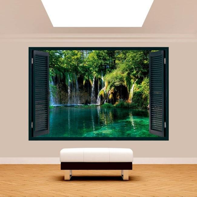 Windows 3D waterfalls in nature
