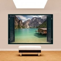 Windows 3D Lake Braies Italy
