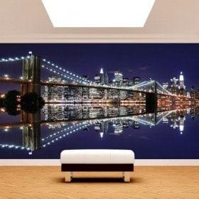 Photo wall murals Manhattan Bridge Brooklyn