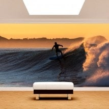 Surfing photo wall murals