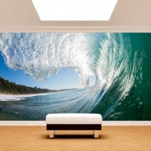 Great photo wall murals wave