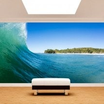 Photo wall murals in the wave of the sea
