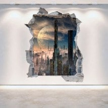 3D vinyl hole wall Scifi science fiction