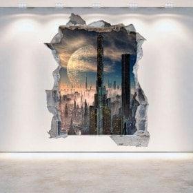 3D vinyl hole wall Scifi science fiction