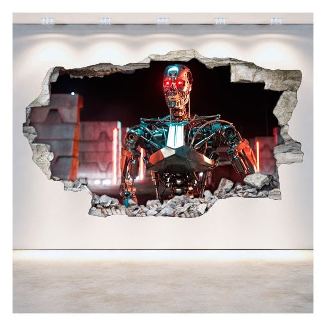 Vinyl wall broken 3D Terminator Genesis