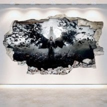 Vinyl 3D wall broken Dracula
